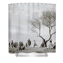 The Meeting Shower Curtain by Shaun Higson