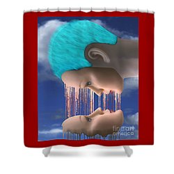The Melding Shower Curtain by Keith Dillon