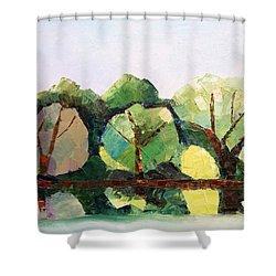 Emajogi Reflections Shower Curtain