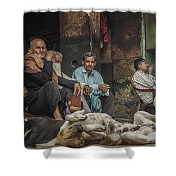 The Men Mourn Shower Curtain