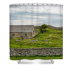 The Mens Chapel Shower Curtain by Adrian Evans