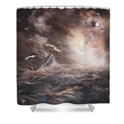 The Merchant Royal Shower Curtain by Jean Walker