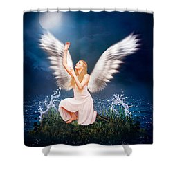 Shower Curtain featuring the photograph The Messenger by Ester  Rogers
