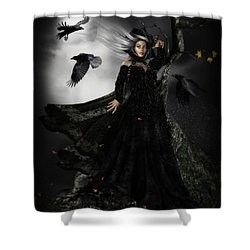 The Messengers Shower Curtain by Shanina Conway