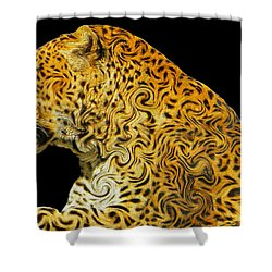The Mighty Panthera Pardus Shower Curtain