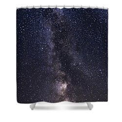 The Milky Way From Phippsburg Maine Usa Shower Curtain