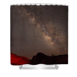 The Milky Way Over Mesa Arch Shower Curtain