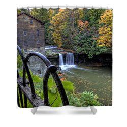 The Mill And Falls At Mill Creek Park Shower Curtain
