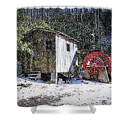 The Mill Shower Curtain by Bill Howard