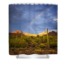 A Miracle Of Timing Shower Curtain