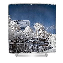 The Mirage In Infrared 1 Shower Curtain