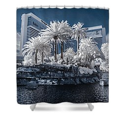 The Mirage In Infrared 2 Shower Curtain