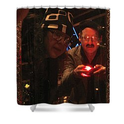 The Mirror Has A Glow Shower Curtain by Kym Backland