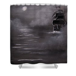 The Mist Shower Curtain by Eugene Budden