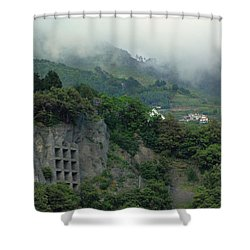 Shower Curtain featuring the photograph The Mist Cometh by Natalie Ortiz