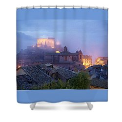 The Mists Of Soriano Shower Curtain by Ellen Henneke
