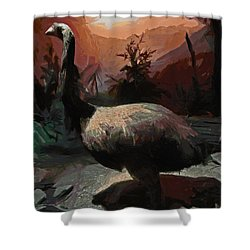 The Moa Shower Curtain by Steve Taylor