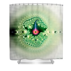 The Moment Of Conception Shower Curtain by Renee Trenholm