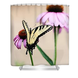 The Swallowtail Shower Curtain by Trina  Ansel