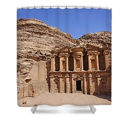 The Monastery At Petra Shower Curtain by Robert Preston