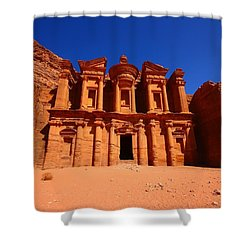 The Monastery Shower Curtain by FireFlux Studios