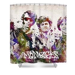 The Monkees Shower Curtain by Aged Pixel