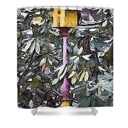 The Monkey's Garden Shower Curtain by Trish Tritz