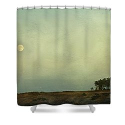 The Moon Above The Trees Shower Curtain