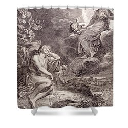 The Moon And Endymion Shower Curtain by Bernard Picart