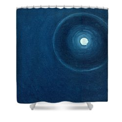 The Moon II Shower Curtain