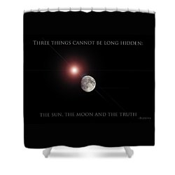 Shower Curtain featuring the photograph The Moon by Pennie  McCracken