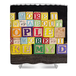 The More I Know About People The More I Like My Dog Shower Curtain by Art Whitton