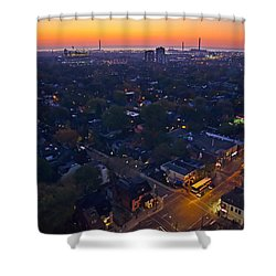The Morning Bus Shower Curtain by Keith Armstrong