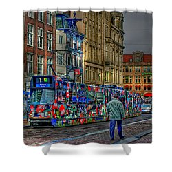 Shower Curtain featuring the photograph The Morning Rhythm by Ron Shoshani