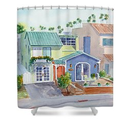 The Most Colorful Home In Belmont Shore Shower Curtain