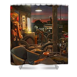 The Motorcycle Shop 2 Shower Curtain