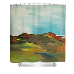 The Mountain Shower Curtain by Joseph Demaree