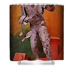 The Mummy Shower Curtain by John Malone