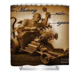The Mummy Rides In Halifax Shower Curtain by John Malone