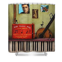 The Music Box Shower Curtain by Leah Saulnier The Painting Maniac