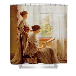 The Music Lesson, C.1890 Shower Curtain