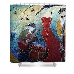 The Music Never Stopped 2 Shower Curtain