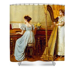 The Music Room Shower Curtain by George Goodwin Kilburne