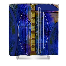 The Musical Abstraction Shower Curtain