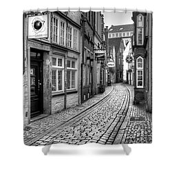 The Narrow Cobblestone Street Shower Curtain