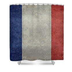 The National Flag Of France Shower Curtain by Bruce Stanfield