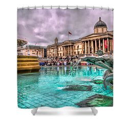 The National Gallery In Trafalgar Square Shower Curtain