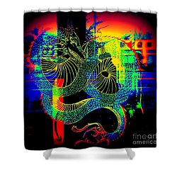The Neon Dragon Shower Curtain