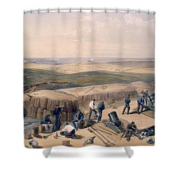 The New Works On The Right Attack Shower Curtain by William 'Crimea' Simpson