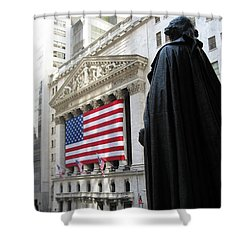 The New York Stock Exchange Shower Curtain by RicardMN Photography